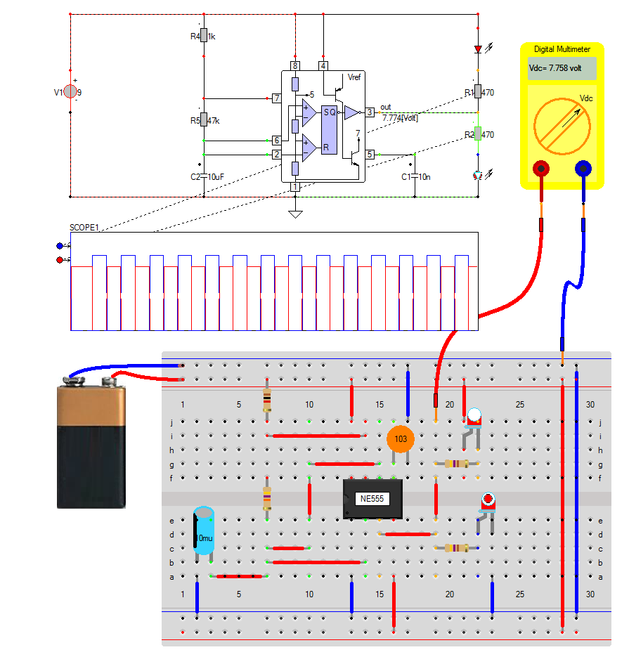 Caspoc Help Multivibrator 555 Bistable Breadboard Basic Toggle Circuit Built On Brclick To Close The Image