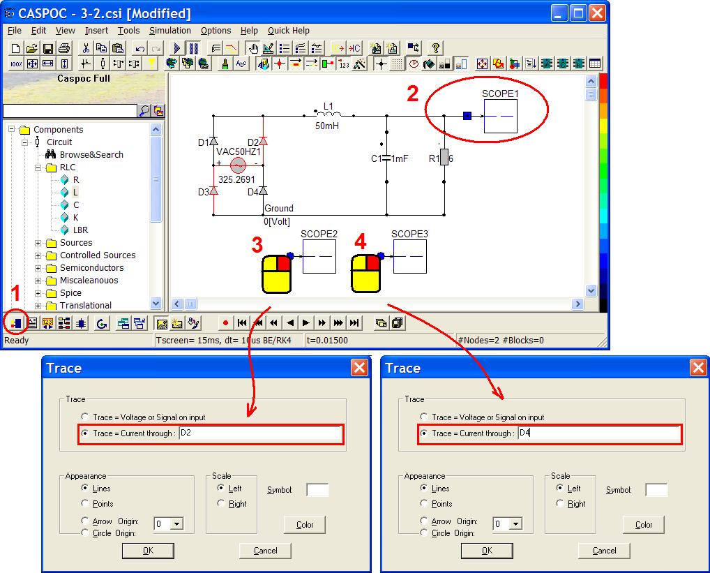 Caspoc Help Simple Circuit Look Through The Simulation Animation Of H Bridge Driver Brclick To Close Image